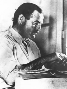 Ernest Hemingway's writing tips