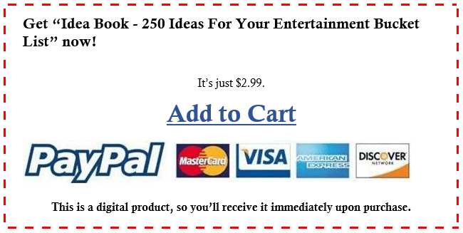 add to cart entertainment