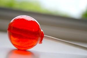 simple pleasures have a lollipop