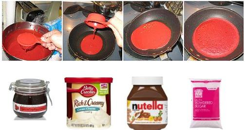 red velvet crepes