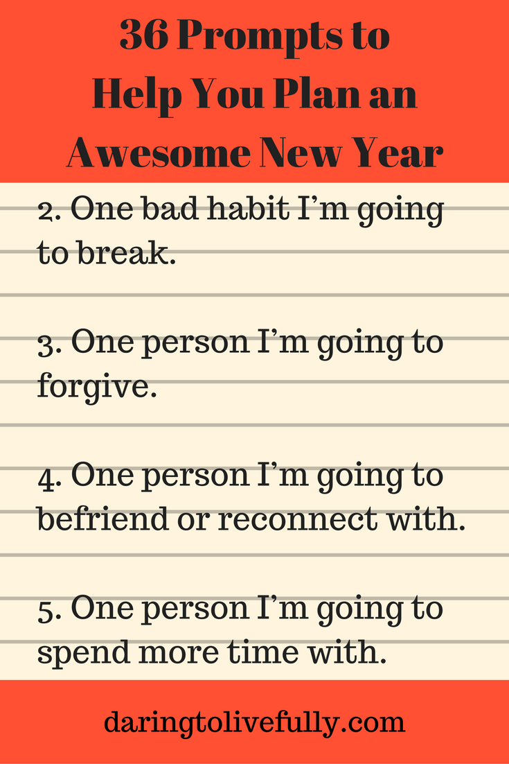 New Year prompts