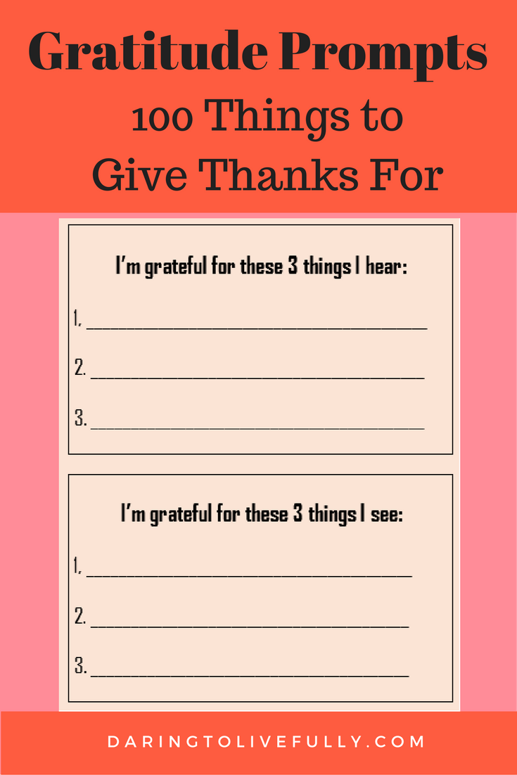 Use these gratitude prompts to make an inventory of the things you're grateful for.