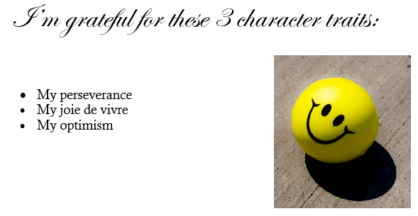 three character traits