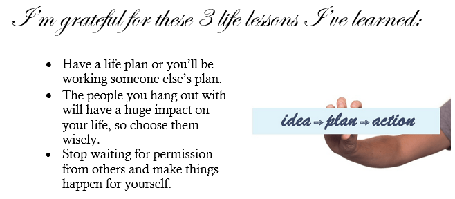 three life lessons