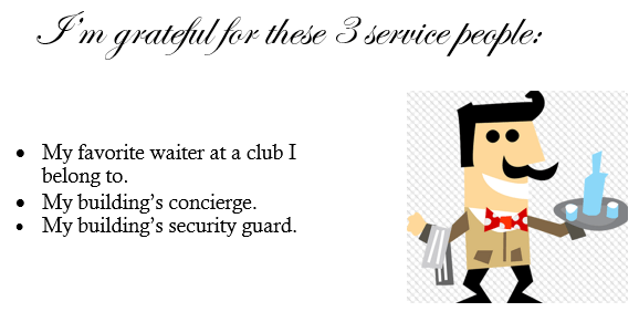 three service people
