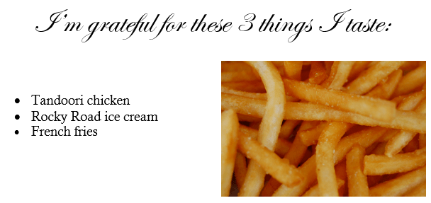 three things I taste