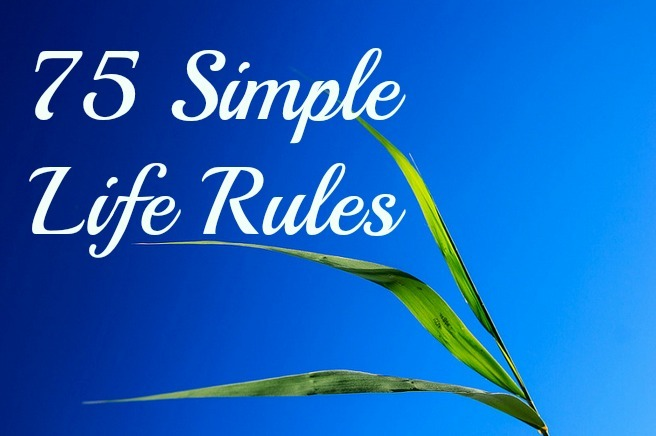 simple life rules