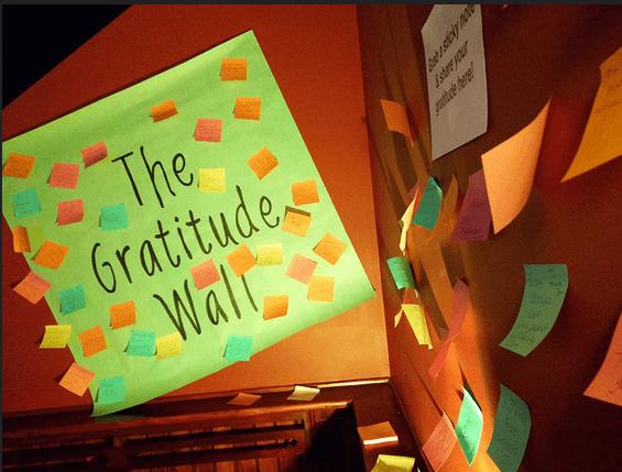 gratitude wall