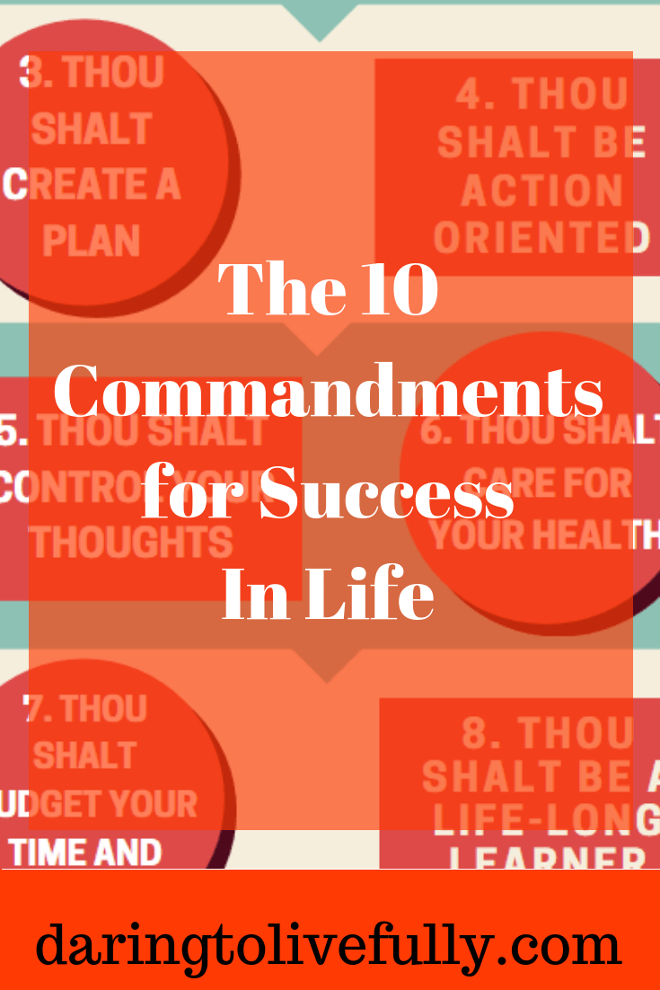 10 commandments of success