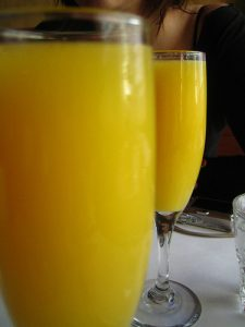 simple pleasure drink a mimosa