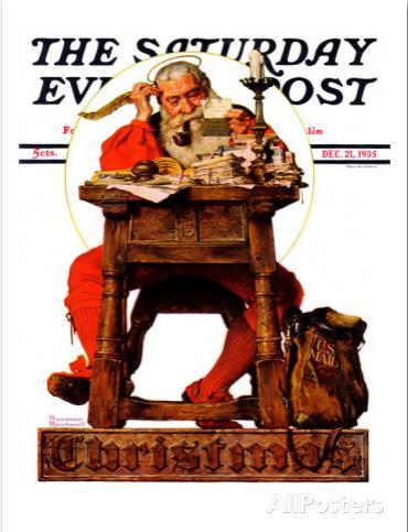 santa at his desk