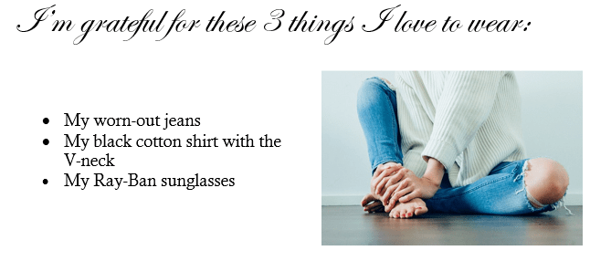 three things to wear