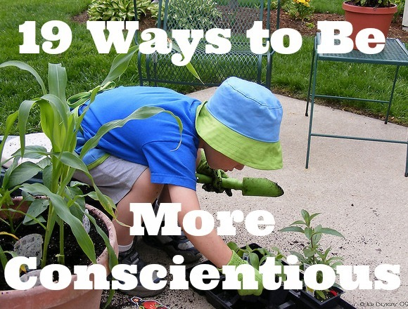 be more conscientious