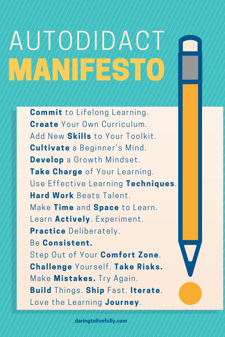 autodidact manifesto