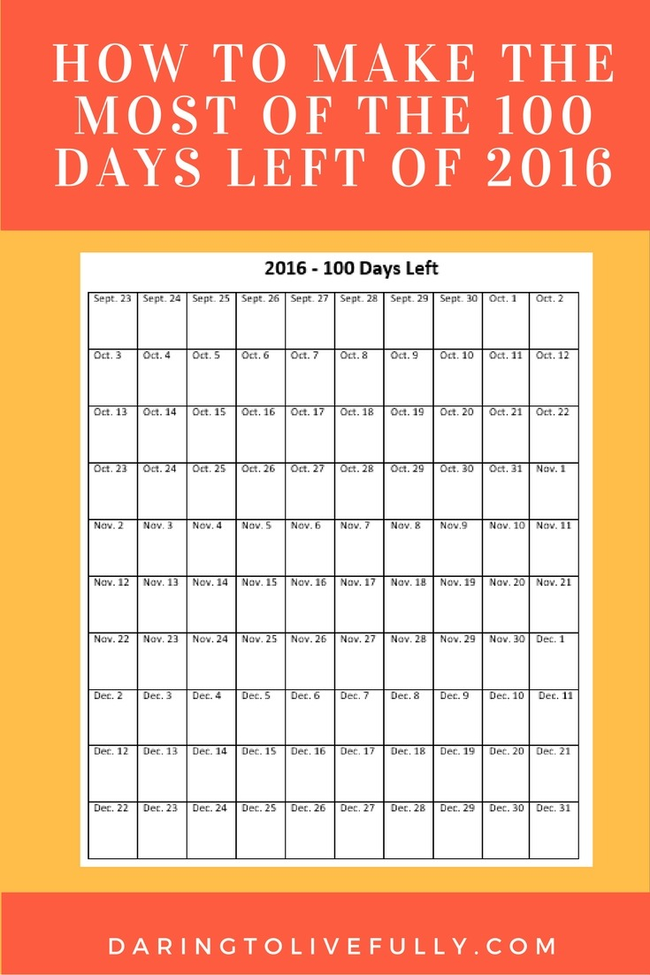 100 days left of the year