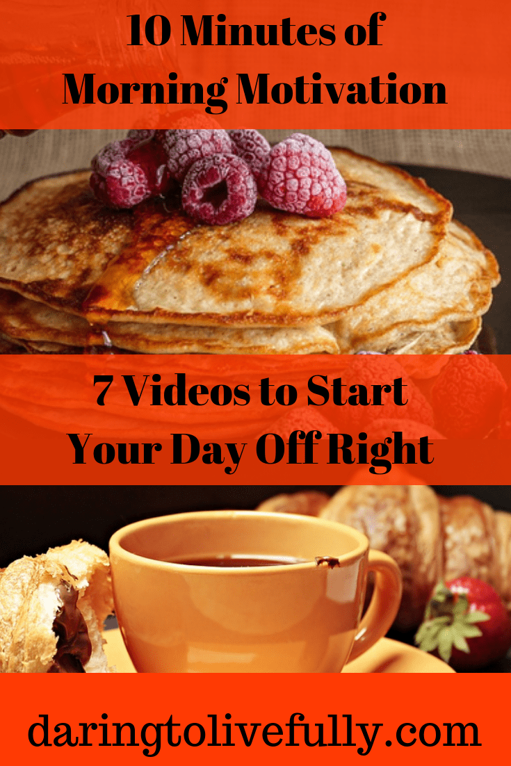 Start your day right by spending ten minutes watching and/or listening to these inspiring videos to skyrocket your morning motivation.